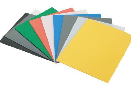 Poliestireno: Chapas em diversas cores e espessuras